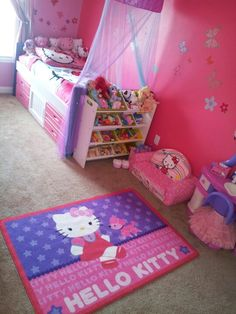 Hello kitty room completed for my little 2 year old. Hello kitty room completed for my little 2 year old. Hello Kitty Bedroom Set, Hello Kitty Rooms, Hello Kitty Baby, Cat Bedroom, Girls Bedroom, Bedroom Decor, Bedroom Ideas, Bedroom Furniture, Bedroom Designs