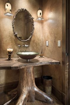 Rustic Bathroom Designs, Rustic Bathroom Vanities, Rustic Bathrooms, Bathroom Signs, Outdoor Bathrooms, Timber Frame Homes, Rustic Interiors, Log Homes, Rustic Furniture