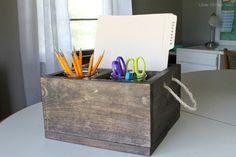 Diy Wood Crate Homework Station