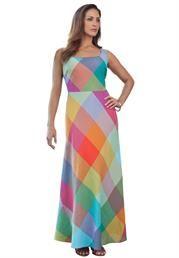 Plus Size Flared Linen Dress