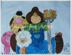 pano de prato pintura em tecido http://inovartartesanatosemeva.blogspot.com.br/2014/02/pano-de-prato-pintura-em-tecido-amigos.html