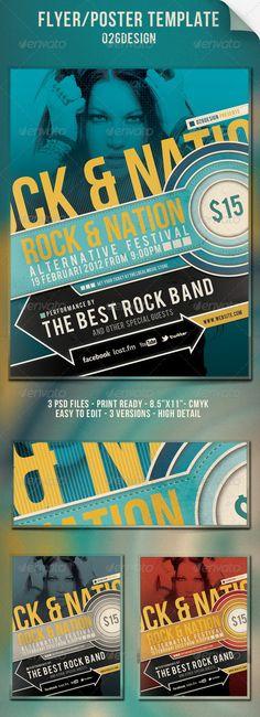 Music Event Retro Flyer Poster