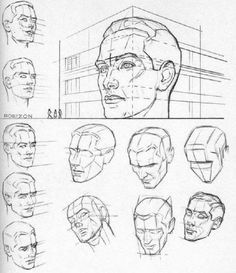 dibujo y perspectiva-de-la-cabeza