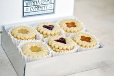 LINZER COOKIE Inspired by the famed Linzer Torte from a recipe discovered in an…