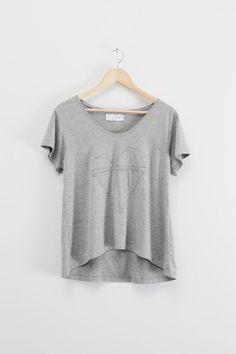 Dunan heather grey tee shirt by lechatclothing
