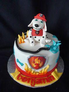 Marcus paw patrol cake creation Maman gateau