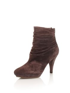 75% OFF Pura Lopez Women's Ruched Ankle Boot (Brown)