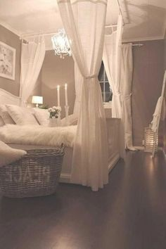 A romantic bedroom is soft: soft color, soft fabric, soft lines. Here's how to capture the look for your own room. A romantic bedroom is soft: soft color, soft fabric, soft lines. Here's how to capture the look for your own room. Dream Rooms, Dream Bedroom, Home Decor Bedroom, Diy Bedroom, Fancy Bedroom, Master Bedrooms, Modern Bedroom, Contemporary Bedroom, Master Suite