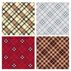 Stock vector ✓ 11 M images ✓ High quality images for web & print | Tartan plaid fabric textile pattern Set - vector
