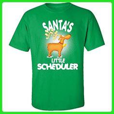 Santa's Little Scheduler Christmas - Adult Shirt 5xl Irish-green - Holiday and seasonal shirts (*Amazon Partner-Link)