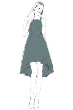 Most current Free hand sewing dress Suggestions Flora Dress - PDF sewing pattern – By Hand London Dress Making Patterns, Skirt Patterns Sewing, Clothing Patterns, Patterned Bridesmaid Dresses, By Hand London, Flora Dress, Couture Sewing, Sewing Clothes, Dress Sewing