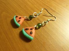 #polymerclay Watermelon earings
