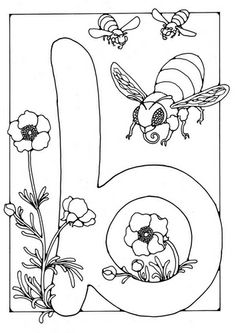 Coloring page letter - b