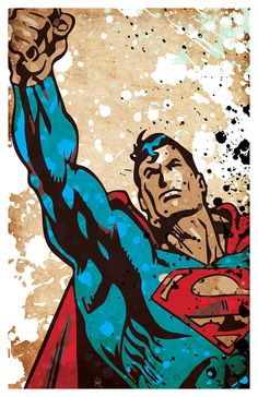 Superhero poster set Superman Batman Captain от PrintMadness