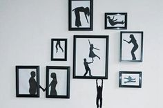Silhouette Artworks Inspiring Creative Wall Decoration for Teenage Bedroom Design