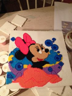 Minnie Mouse hama perler beads by Majbrit Fjordvald