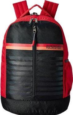 c2277f4bd4c5 American Tourister 28 Ltrs Red Casual Backpack (AMT PING Backpack 01 -  RED)  Amazon.in  Bags