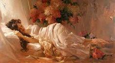 Картинки по запросу картины женщины в цветах