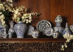 Blue and white Porcelain from the 16th-19th C. Art Collection from Jim Thompson House, Bangkok, Thailand