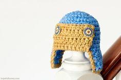 Newborn Aviator Hat Free Crochet Pattern 1