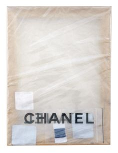 May Hands, Chanel (Small Blue), 2013, wooden stretcher, Chanel plastic bag, polythene, cellophane and Chanel objects, 40 x 30 cm