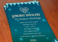 Merida Brave Inspired Party Invitation. $10.00, via Etsy.