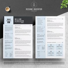 Modern Resume/CV Template for Word, Pages, Google Docs | Resume Template with Photo#recruiter #education #hiringnow #bhfyp #cvmurah #cvkreatif #resumeservice #networking #college #marketing Cv Design Template, Modern Resume Template, Resume Template Free, Free Resume, Resume Format, Resume Cv, Resume Design, Resume Tips, Cover Letter Template