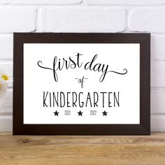 Modern First and Last Day of Kindergarten Signs - 2021-2022