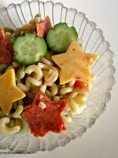 Silly Star Pasta Salad - Fun for Kids! Sponsored by Kraft #GetZesty