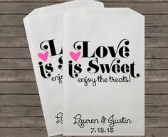 Wedding Favor Bags, Candy Buffet Bags, Candy Bar Bags, Favor Bags, Personalized Wedding Favor Bags, Treat Bags, Custom Favor Bags, Kraft 064