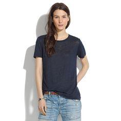 Linen #Crewneck Tee - short sleeve -  #Madewell