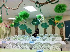 Week of Menus: Pandamania Vacation Bible School: Healthier Snacks--vines from the ceiling