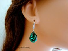 Angelina Jolie Emerald Earrings Emerald Green by MyTinyStarShining