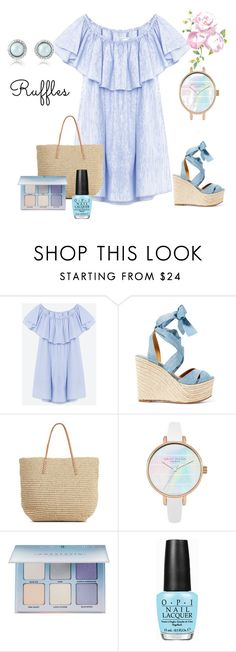 """""""Styling the pear shape figure , summer beach outfit ."""" by monicazelin on Polyvore featuring Ralph Lauren, Target, Anastasia Beverly Hills and OPI"""