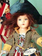 HAZEL TWIGG No. 74 July 4! Patriotic GLORY Anne Shirley Vintage Composition Doll