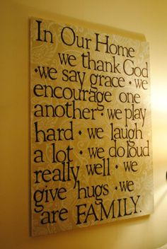fabric-wrapped canvas family quote