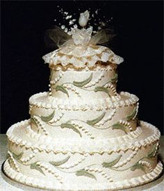 Lily of the Valley wedding cake.