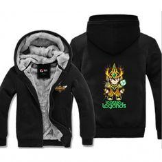 Black hooded sweatshirt for men League of Legends Jarvan IV printing