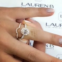 "16.1k Likes, 1,877 Comments - Lauren B (@laurenbjewelry) on Instagram: ""At #LaurenB many of our #engagementrings are made to sit flush with its matching diamond wedding…"""