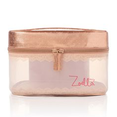 A gorgeous rose gold vanity, perfect for all your Zoella Beauty favourites or overnight essentials. Zoella Beauty, Beauty Makeup, Youtuber Merch, Youtubers, Rose Gold Decor, Copper Rose, Beauty Case, Its My Bday, Makeup Case