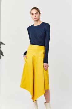 standard l/s shirt, navy S Shirt, Jersey Shirt, Waist Skirt, High Waisted Skirt, Cotton Citizen, Navy, Skirts, Fashion, Hale Navy