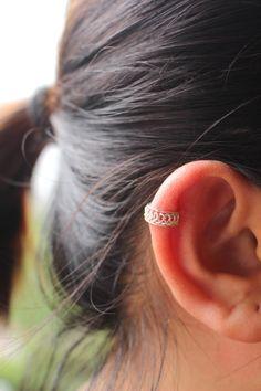 Ear Cuff Sterling Silver Ear Cuff Simple ear cuff by JCoJewellery
