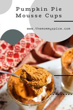 Tis' the season for all things PUMPKIN! These mousse cups are so easy t make and a huge crowd pleaser! Let me know what you think! Top Recipes, World Recipes, Candy Recipes, Other Recipes, Fall Recipes, Mexican Food Recipes, Dessert Recipes, Good Food, Yummy Food