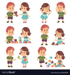 Buy Good and Bad Behavior by YummyBuum on GraphicRiver. Good and bad behavior. Naughty and obedient kids, angry, aggressive bully and funny, polite manners children, cartoon. Eyfs Activities, Preschool Learning Activities, Brother And Sister Fight, Preschool Friendship, Emotions Preschool, Autism Facts, Sisters Drawing, Kids Vector, Kids Behavior