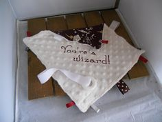 Harry Potter inspired teething blanket! Lovey Blanket! Silicone Teething Ring! You're a Wizard Blanket! Hogwarts! Gryffindor! by Teetherstushiesmore on Etsy https://www.etsy.com/listing/242869094/harry-potter-inspired-teething-blanket