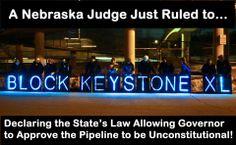 Keystone XL pipeline blocked!