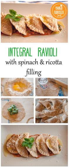Integral Ravioli with spinach & ricotta cheese filling. Recipe here: http://bit.ly/1lspsxg  #recipe #pasta #homemade #integral #ravioli #spinach #ricotta #eggpasta #freshpasta #student #university