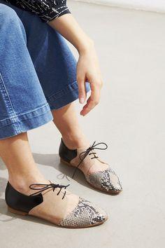 Emma Go derbies Casey snake/taupe/noir #emmago #shoes #derbies #casey #snake #black