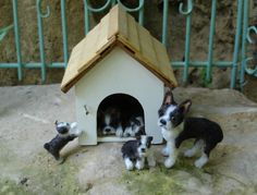 1:12 Boston Terrier family Needle Felted Animals, Felt Animals, Needle Felting, Miniature Dogs, Mini Dogs, Real Dog, Animal Habitats, Realistic Dolls, Living Dolls