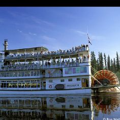 Discovery Boat River Tour, Fairbanks, AK: Goes by 4 time Iditarod Champion Susan Butcher's home and stops at a riverside tourist Athabaskan village and fish wheel. Great salmon they sell on this boat too!
